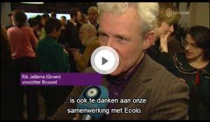 Groen deelt in 2014 geen lijst, maar wel een campagne met Ecolo  tvbrussel - _2013-01-30_15-58-09